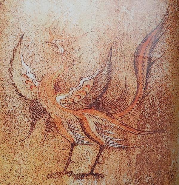 주작강서대묘_남주작_고구려의 고분 강서대묘에 있는 벽화. (출처-고분벽화로 본 고구려이야기,전호태, 2004)